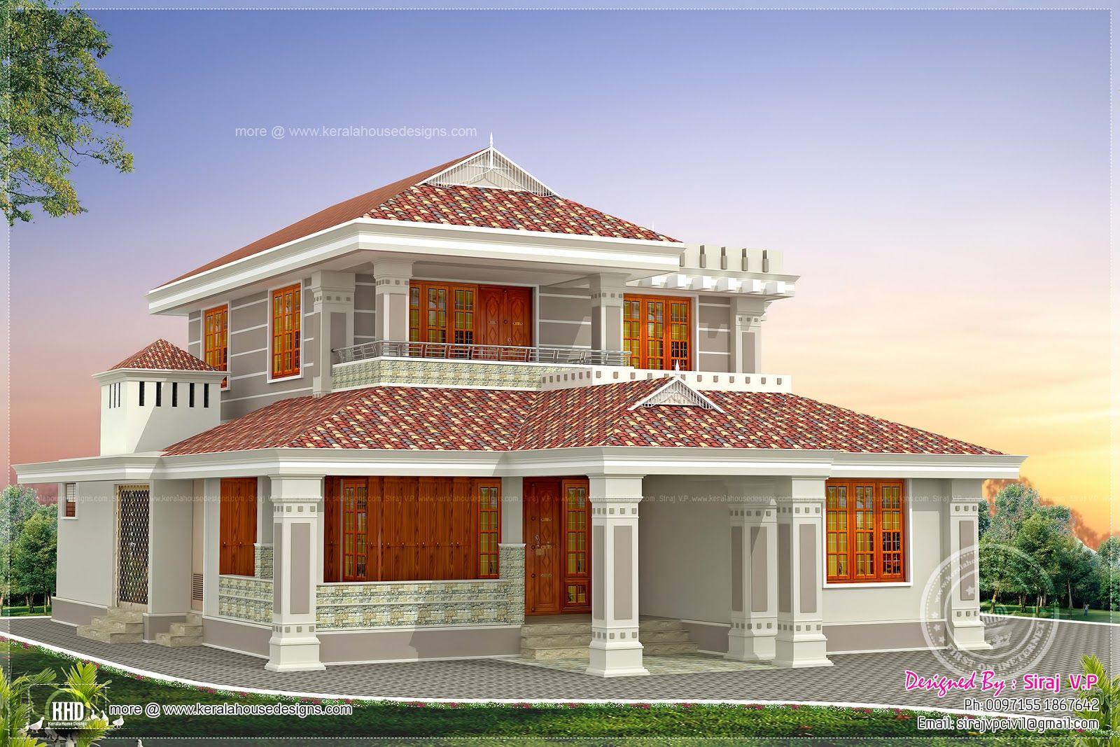 Kerala Style Beautiful Home Plans Small House House House Plans Small House