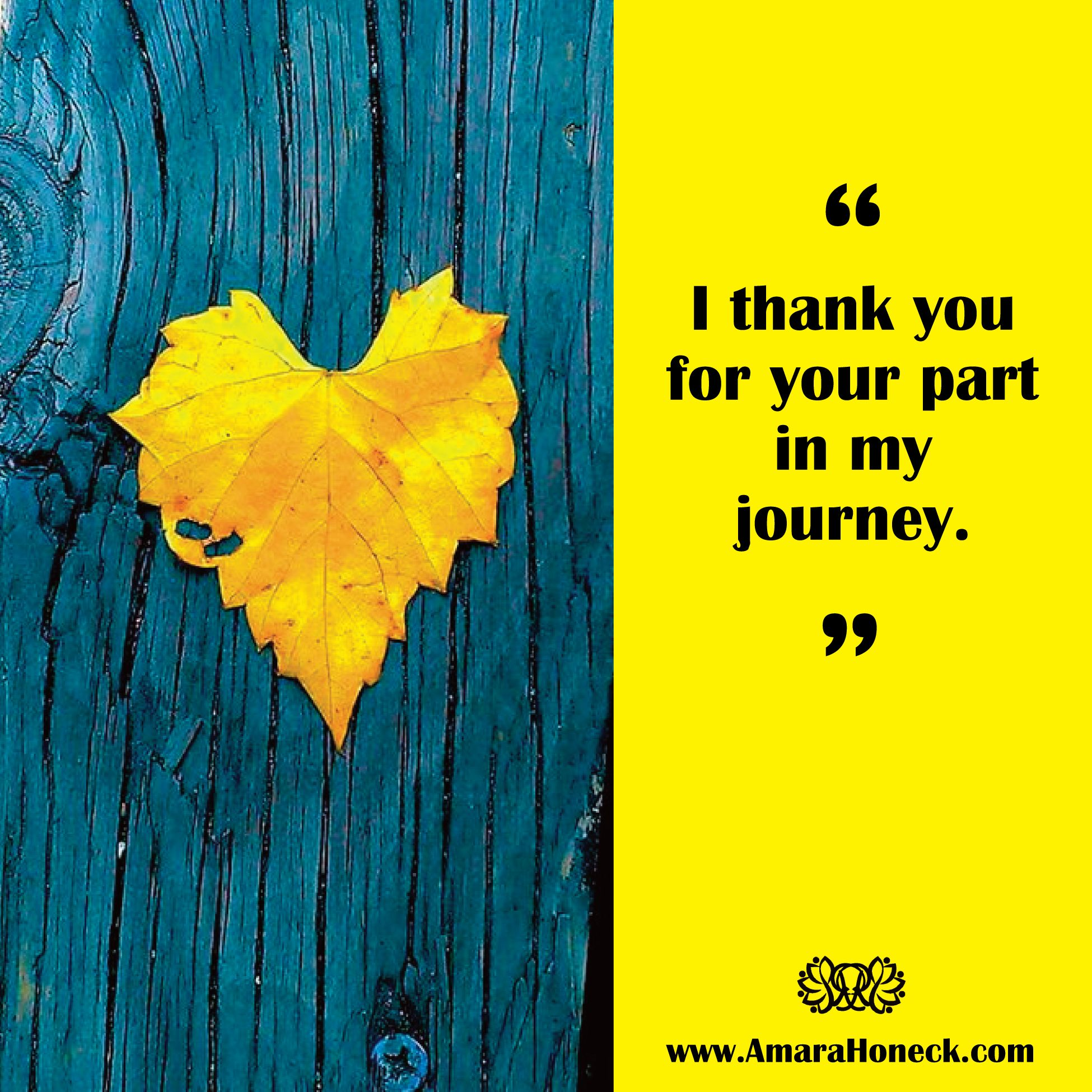 """I thank you for your part in my journey."""" <> Inspiration - Growth"""