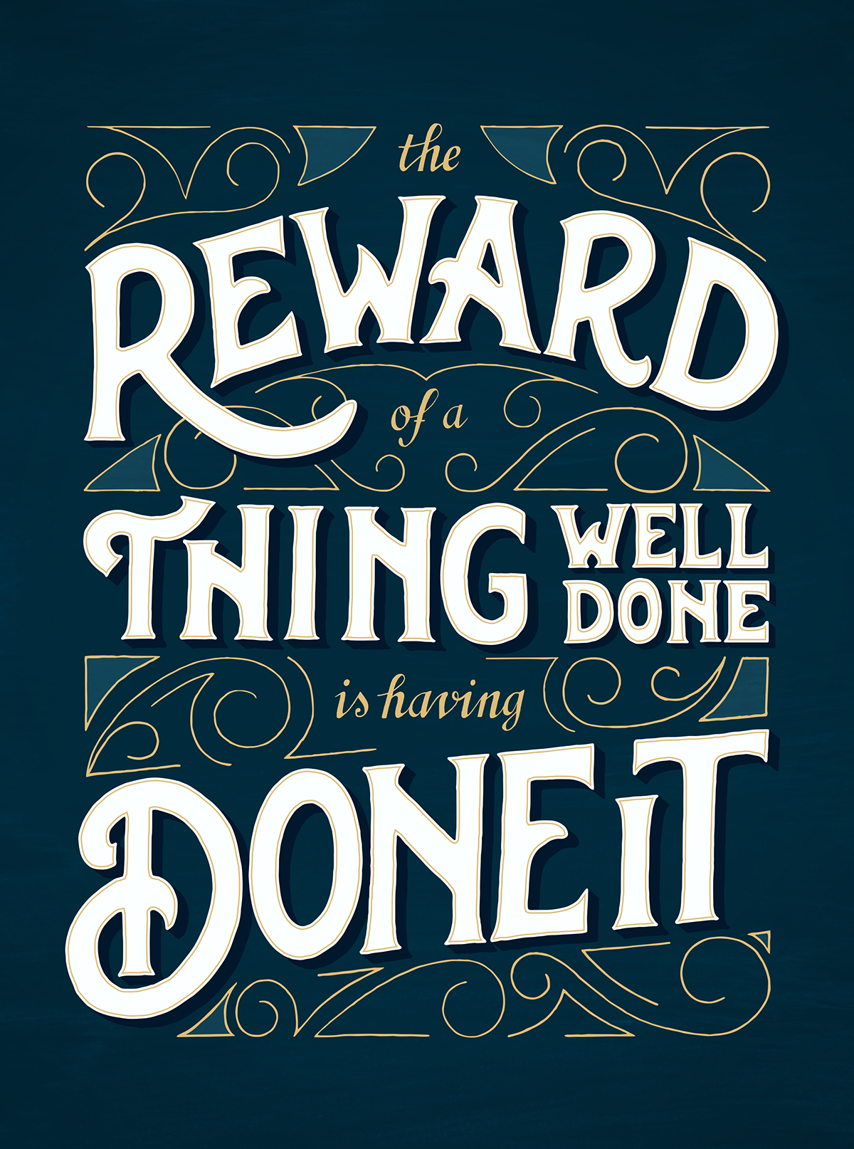 The Reward of a thing well done is having done it on Behance