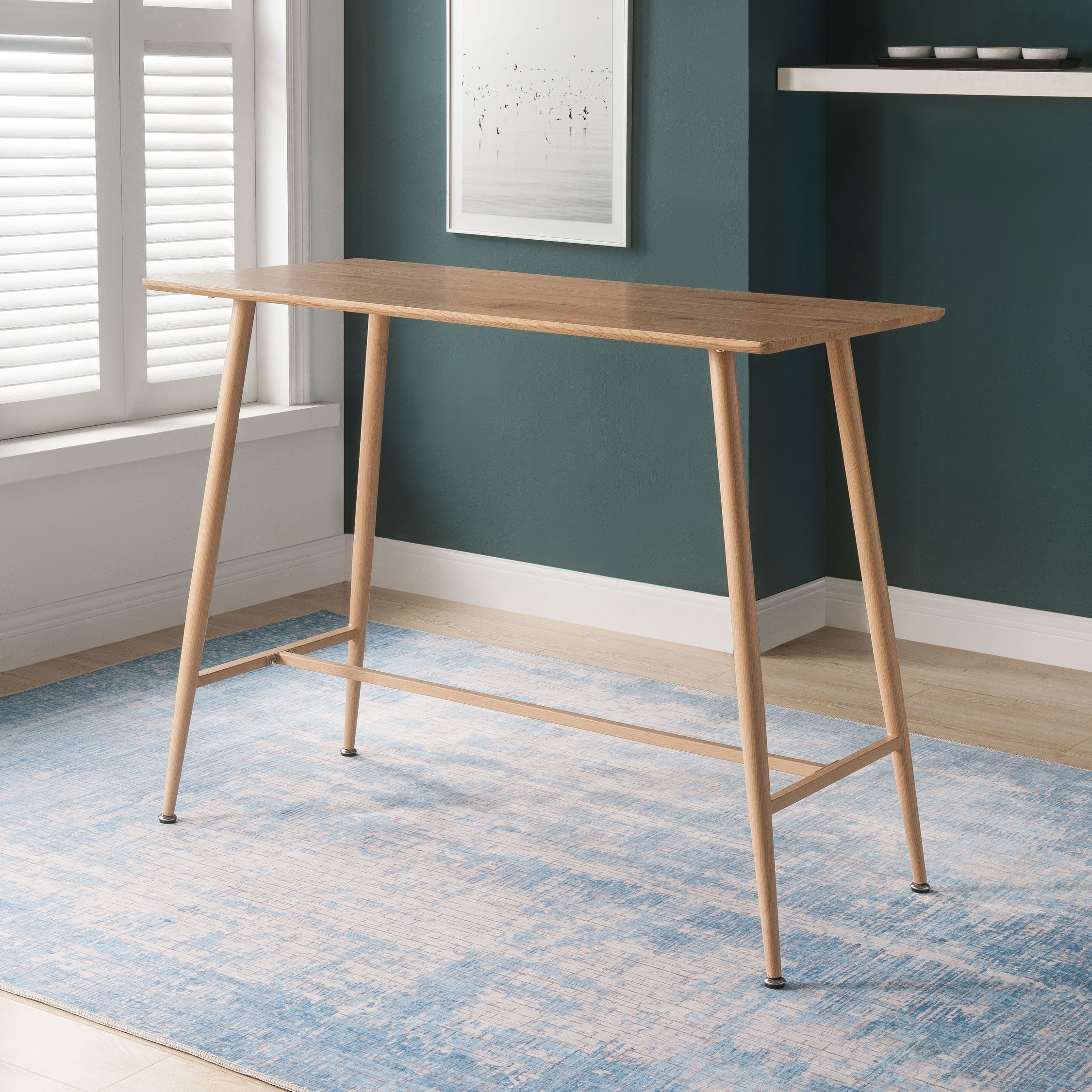 Table Bar Console Hauteur 95cm En Bois Lewis Table Bar Hauteur