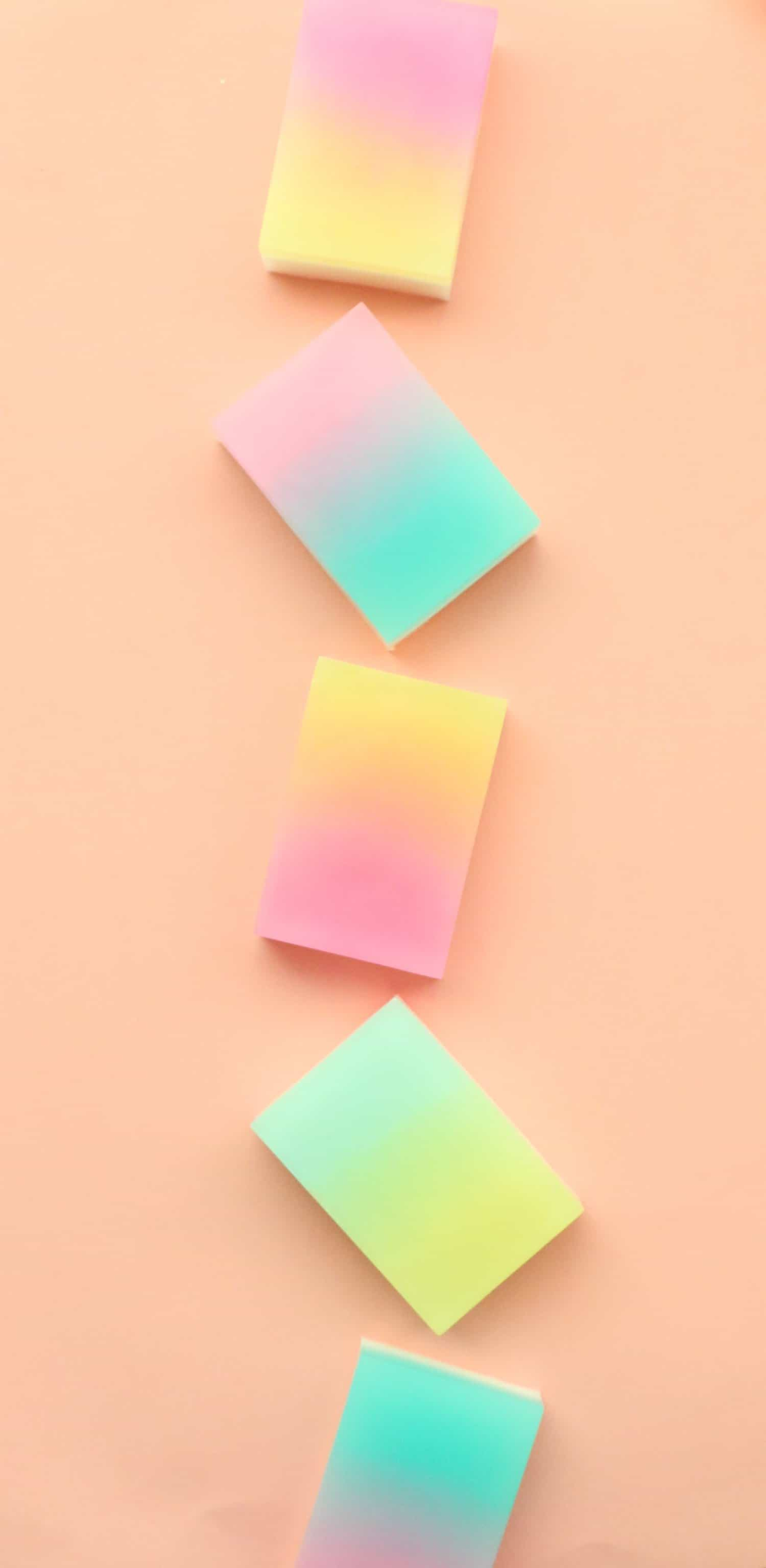 DIY Gradient Soap Bars