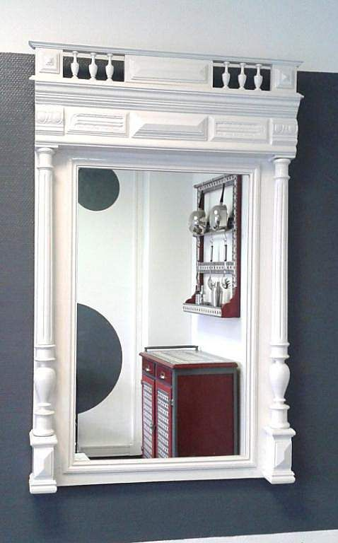 rue des relookeurs miroirs style henri ii laqu blanc mirrors reflections pinterest henri. Black Bedroom Furniture Sets. Home Design Ideas