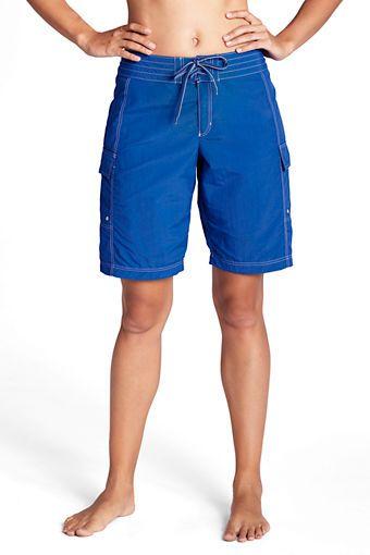 Womens AquaTerra Supplex Board Shorts from Lands End