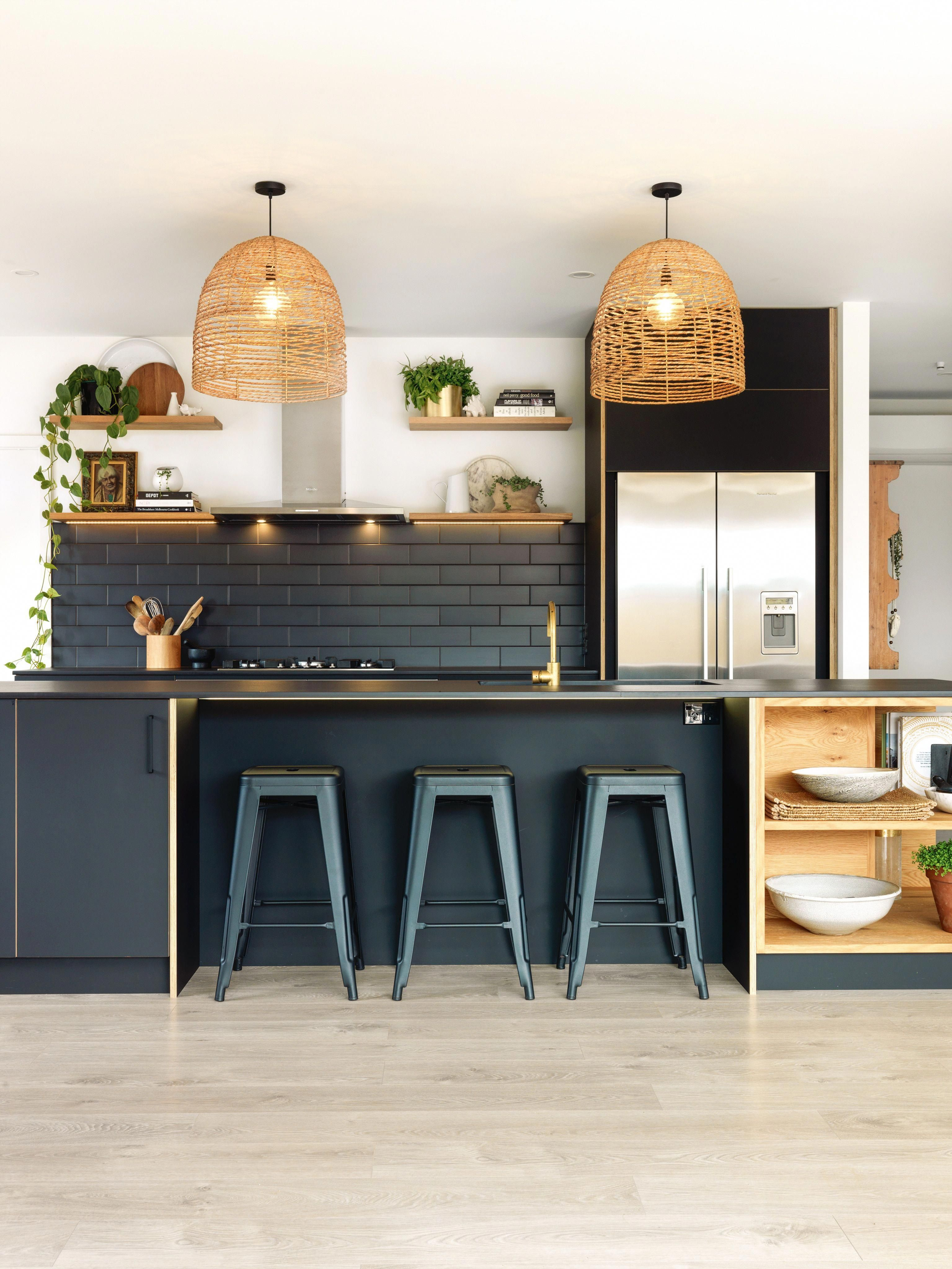 timber and dark colours stand out in award winning kitchens stuff rh pinterest com