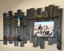 Pallet Wood Wall Shelf Reclaimed Decor Shelving Rustic Shelves Display
