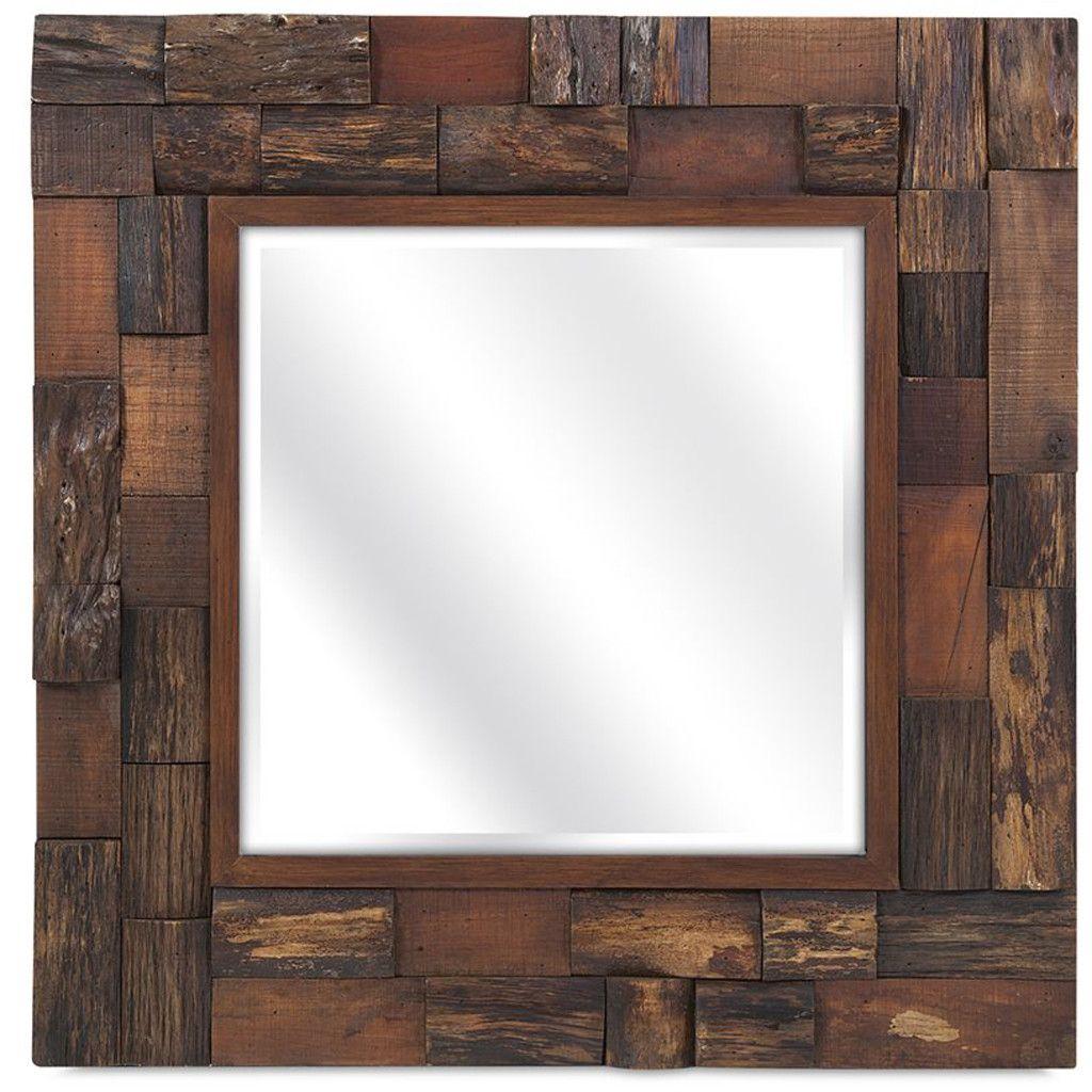 Leslie Wood Slat Mirror | Espejo