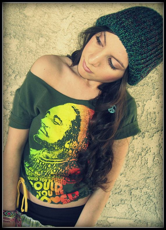 fa2f590a072 LOVE Recycled Cropped BOB MARLEY Scoop Neck Tee by loveclothing