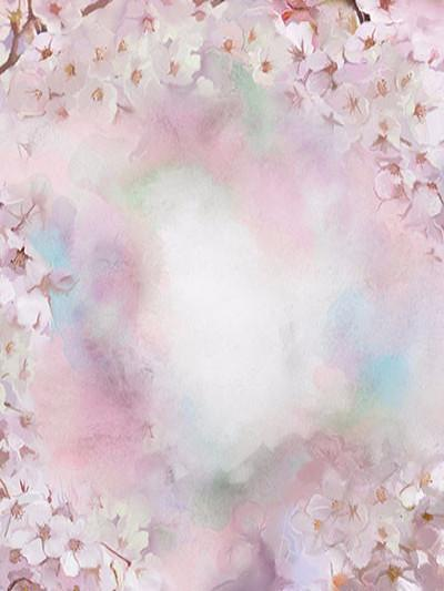 Buy Discount Kate Abstract White Flower Pink Background