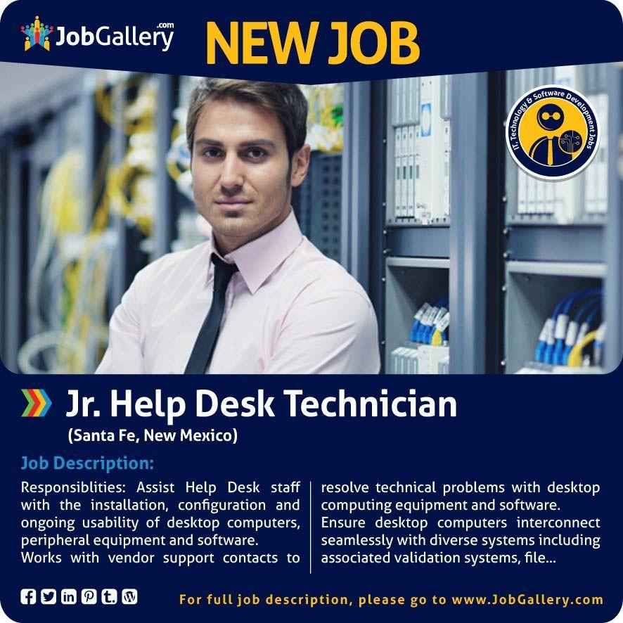 Jr Help Desk Technician Job Posting Job Opening List Of Jobs