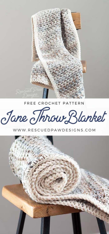 Jane Crochet Throw Blanket | Crochet and Knitting | Pinterest ...