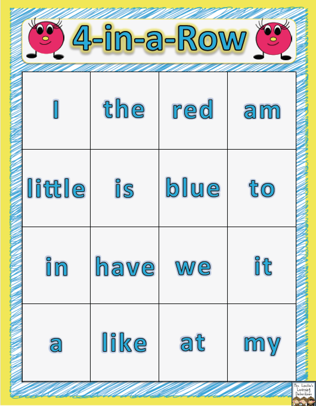 4 In A Row Sight Word Game This Is A Fun And Free Way To