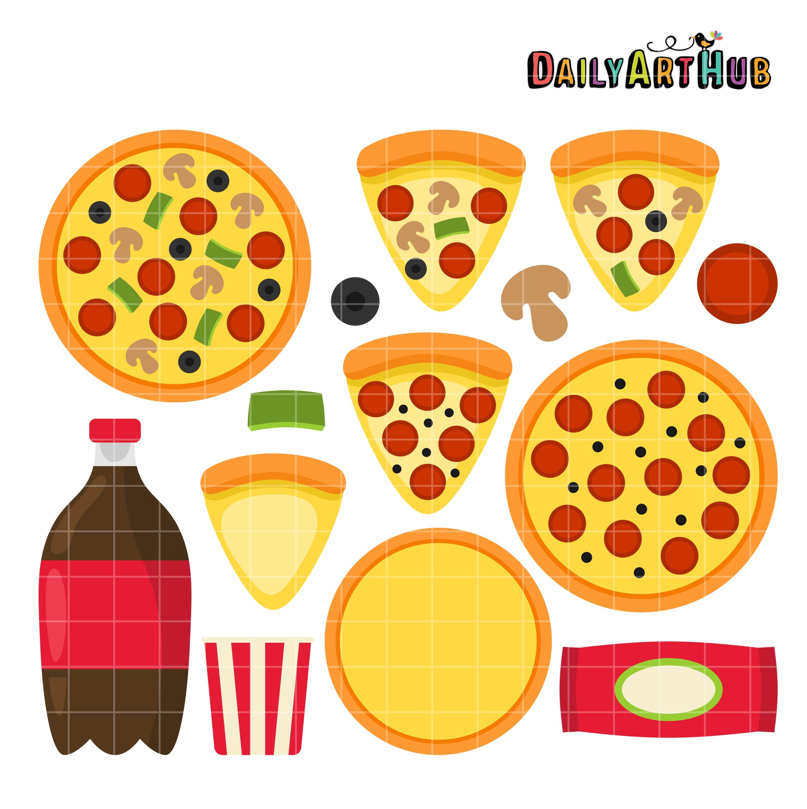 FREE Pizza Party Clip Art Set | SVG Cutting Files