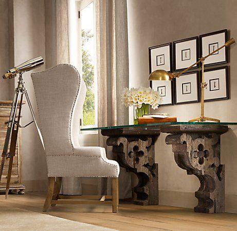 Vintage Corbels As A Desk Home Furniture Decor