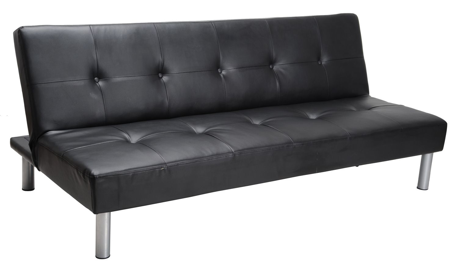 Faux Leather Sofa Bed Black Living Room Furniture
