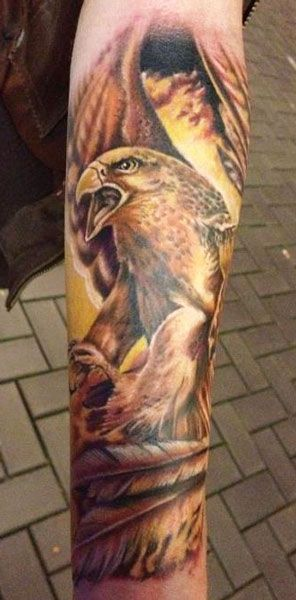 eagle tattoo by andre zechmann animal tattoos tattoo and eagle tattoos. Black Bedroom Furniture Sets. Home Design Ideas