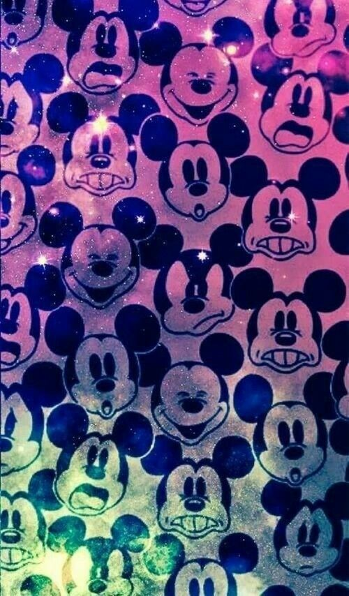 Disney mickey mouse galaxy wallpaper  Cute/girly iPhone backgrounds  Bakgrunder och Drawing