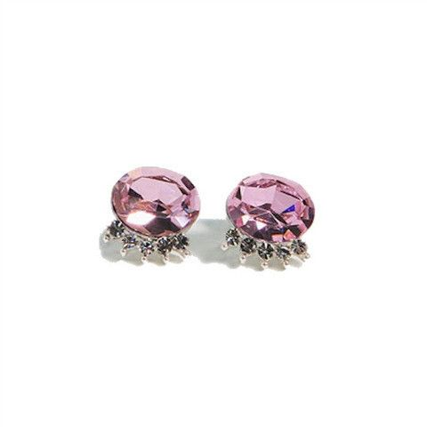 Glossy and glittering Françoise's popular Pink Bling Earrings