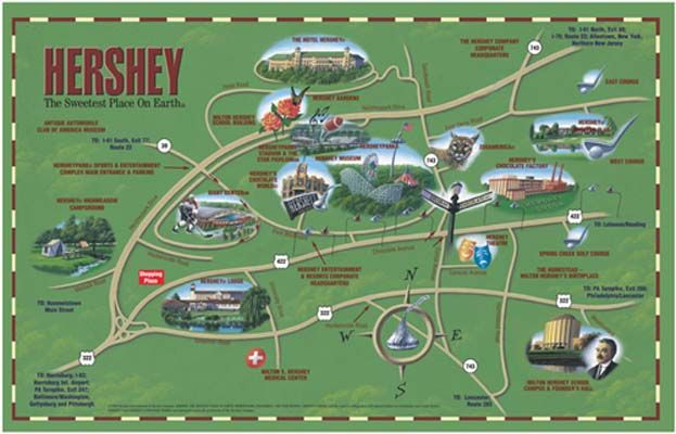 Hershey Pa Map Hershey, PA~~~~map | Places I'd Like to Go | Hershey pennsylvania