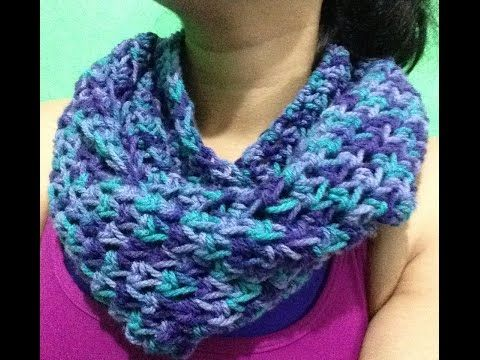 Bufanda infinita Ideal para principiantes a Crochet - YouTube ...