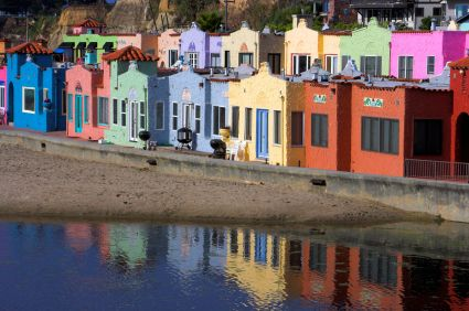 These Are The Colorful Beach Bungalows Dotting Hillside At Capitola In California
