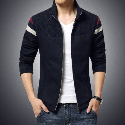 wholesale 2016 New Fashion Brand Jacket Men Trend Patchwork Korean Slim Fit  Mens Designer Clothes Cotoon Men Casual Jacket Slim 6c5de501d765
