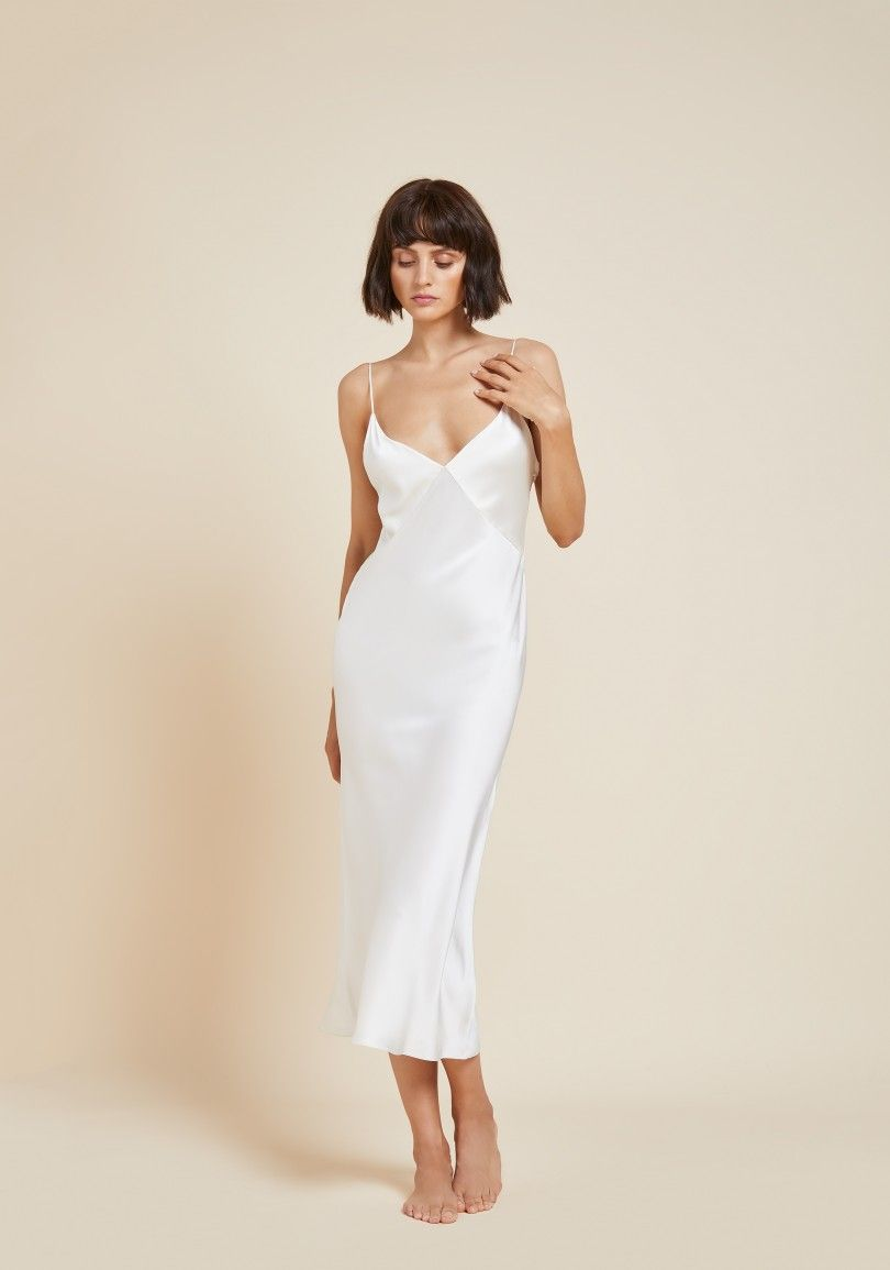 Issa Ivory Silk Slip Dress White Slip Dress Silk Slip Dress Slip Dress [ 1155 x 810 Pixel ]