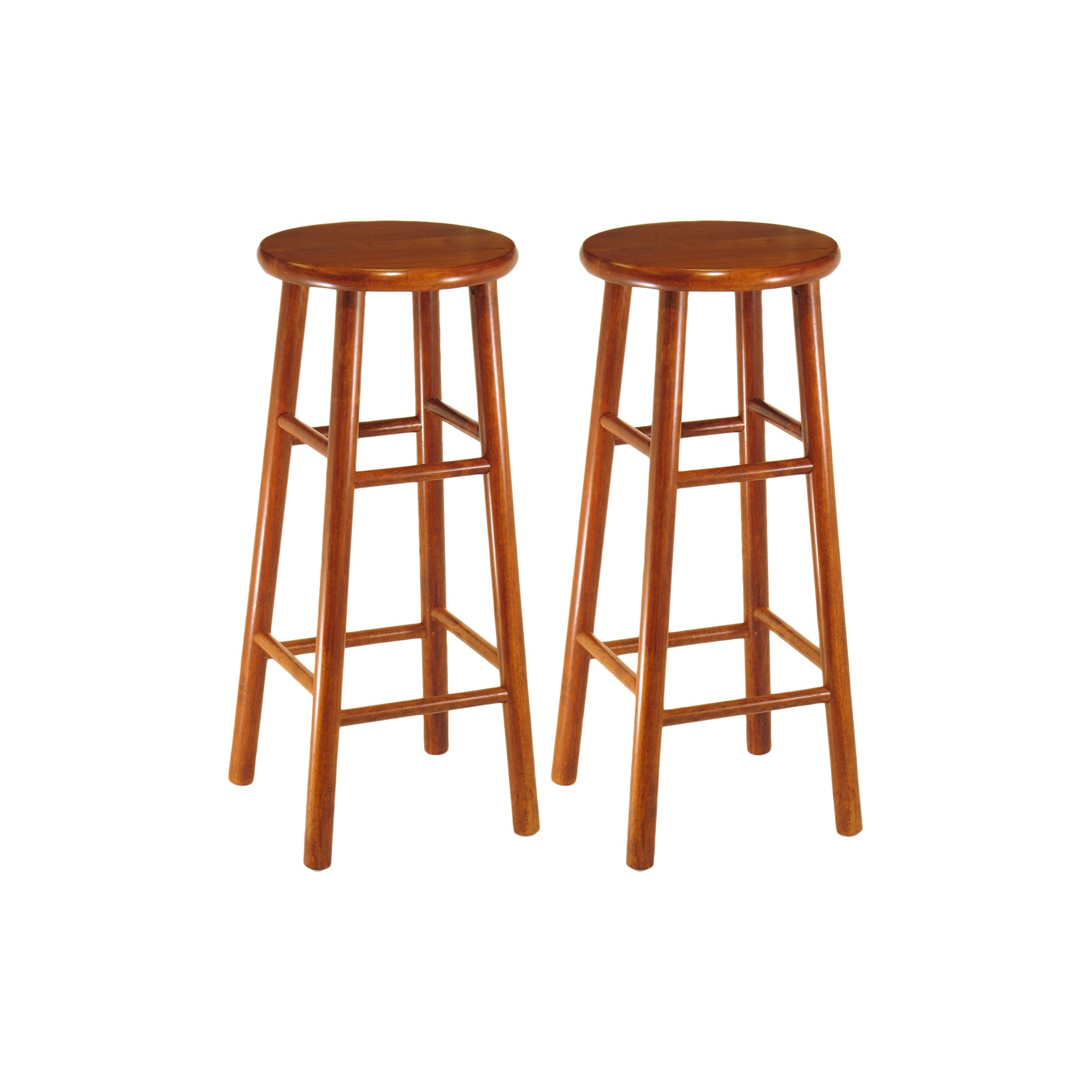 2pc 30 Tabby Bar Stool Set Cherry Winsome Bar Stools Winsome