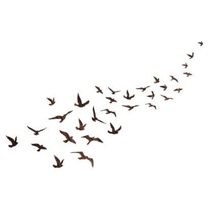 wall decal flock of birds organizedotcom dreamdorm festival wall stickers pinterest. Black Bedroom Furniture Sets. Home Design Ideas