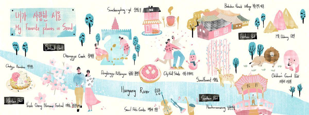 6Pcs World Travel Cartoon Stickers Diary Decoration PVC Scrapbooking Stationery