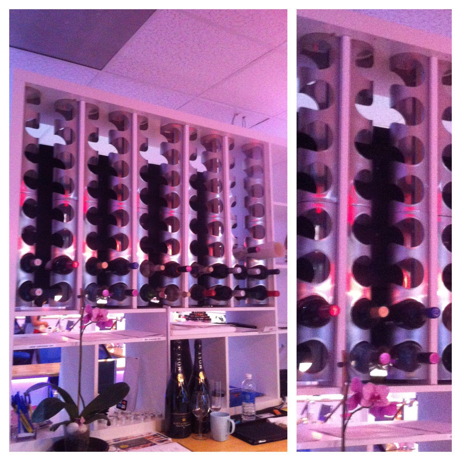 A different way to install ikea 39 s vurm wine racks for Ikea wine shelf