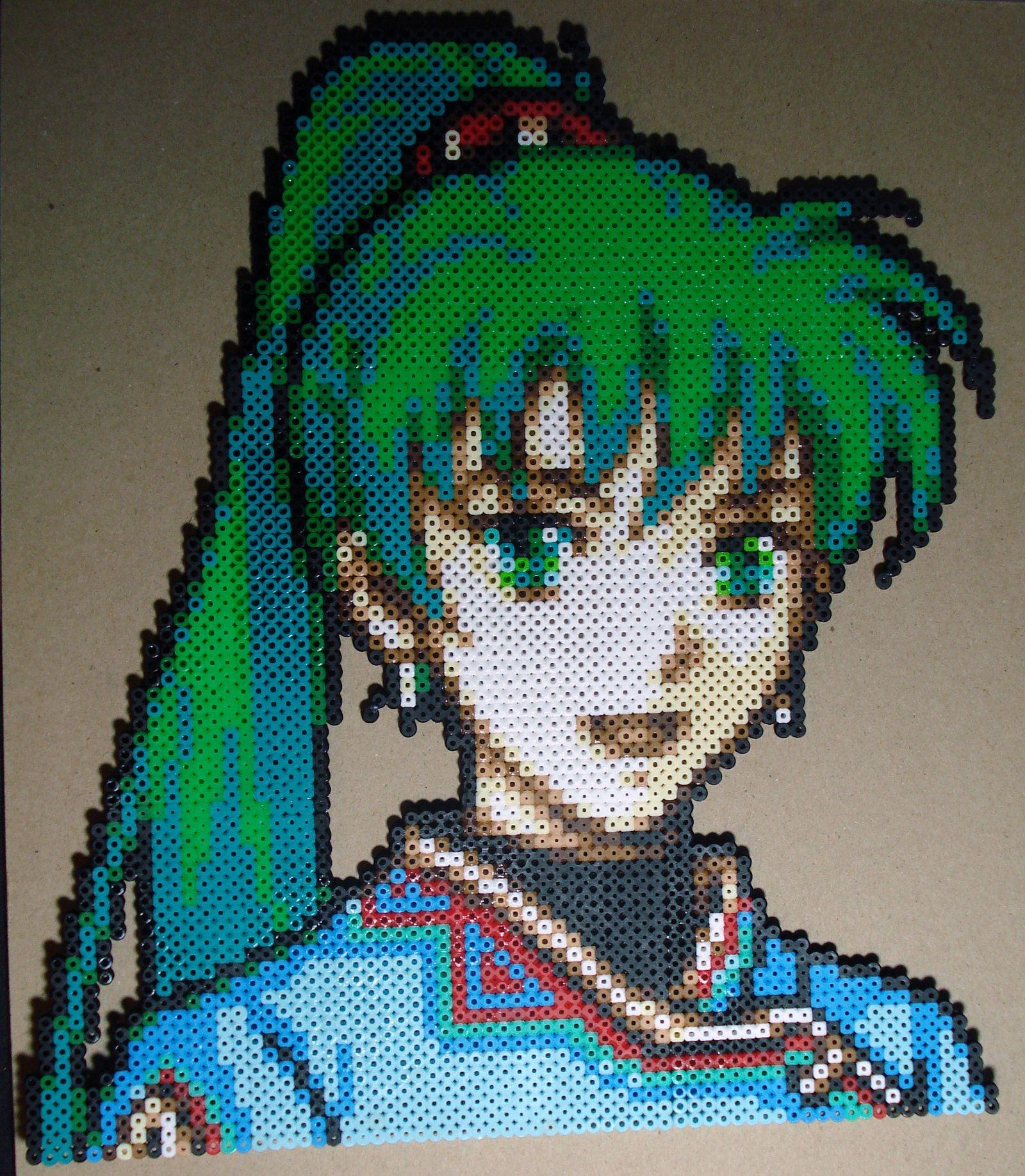 Perles à repasser Lyn - Bead sprite perler pixel art Fire emblem
