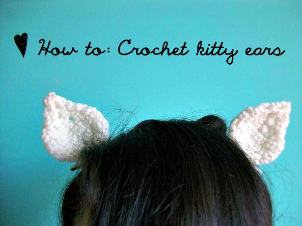 How to Crochet Kitty Ears Crochet, Crochet halloween