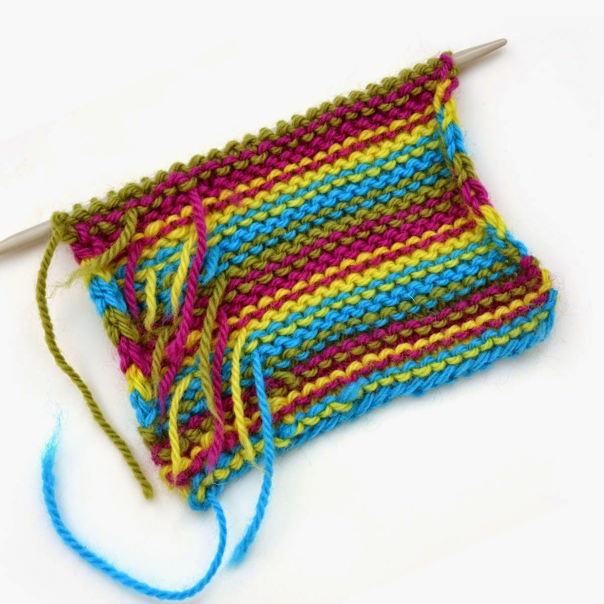 Knit Tips Weaving in ends as you knit Weave in ends