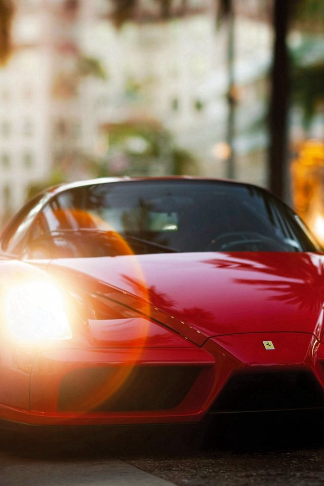 Ferrari Enzo Red Side View #iPhone #4s #wallpaper
