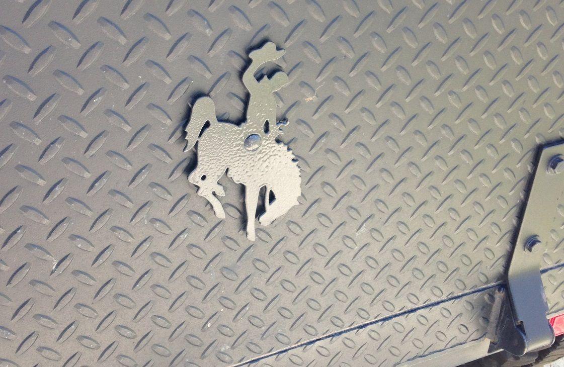 My Trailers Tailgate - Wyoming Bucking Horse