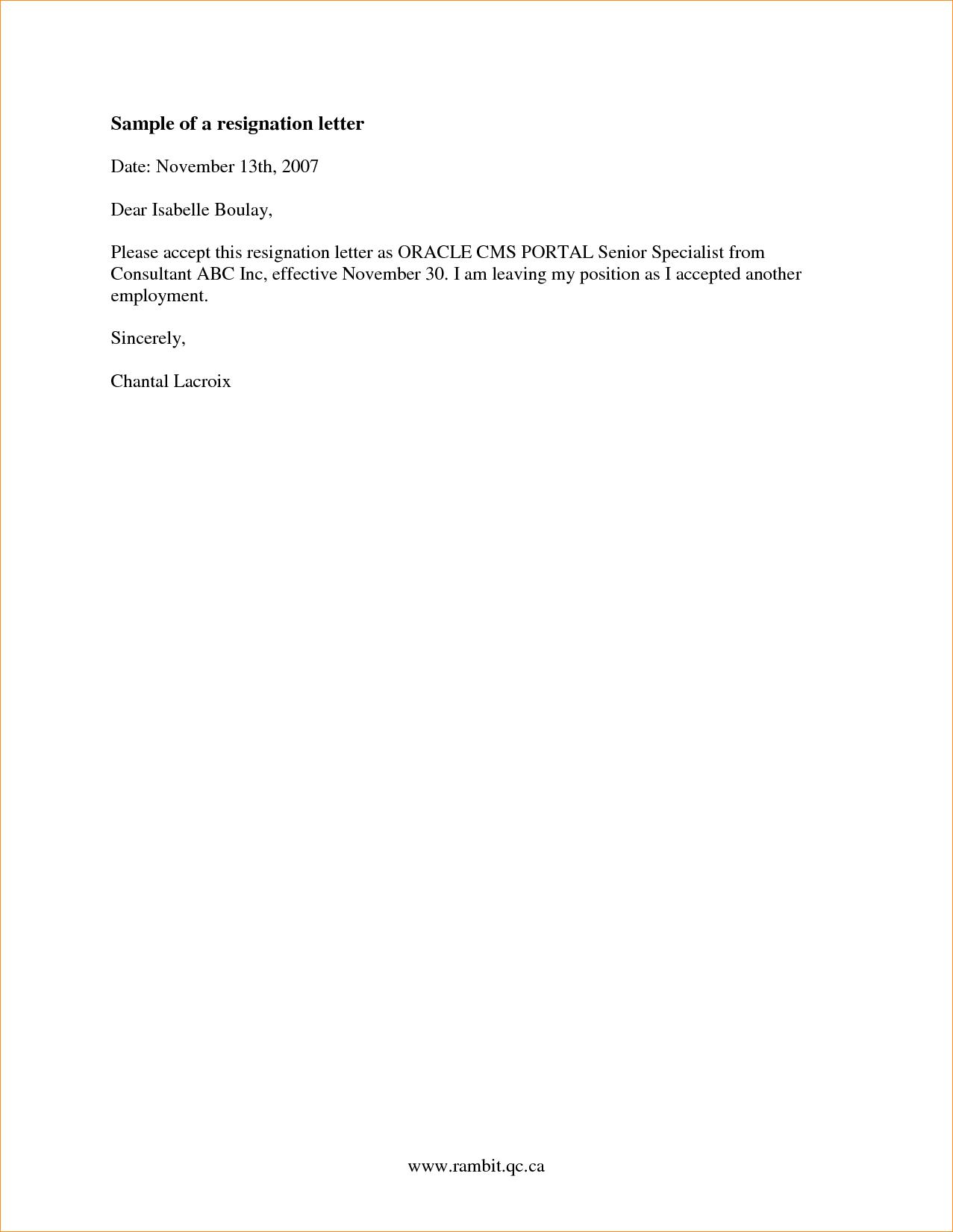 2 week notice