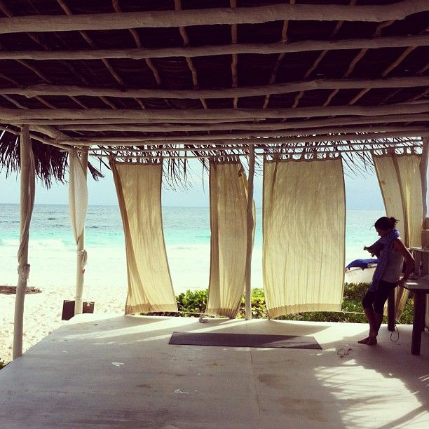 Beachfront Yoga Studio! Can't Wait To Go To Tulum In May