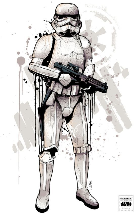 All new Star Wars / Addict clothing illustrations by Mitchy Bwoy ...