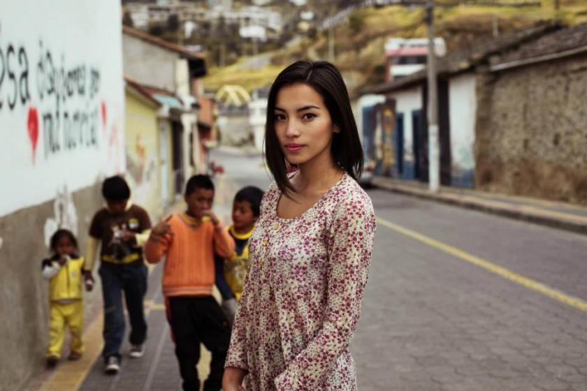 cute latina woman