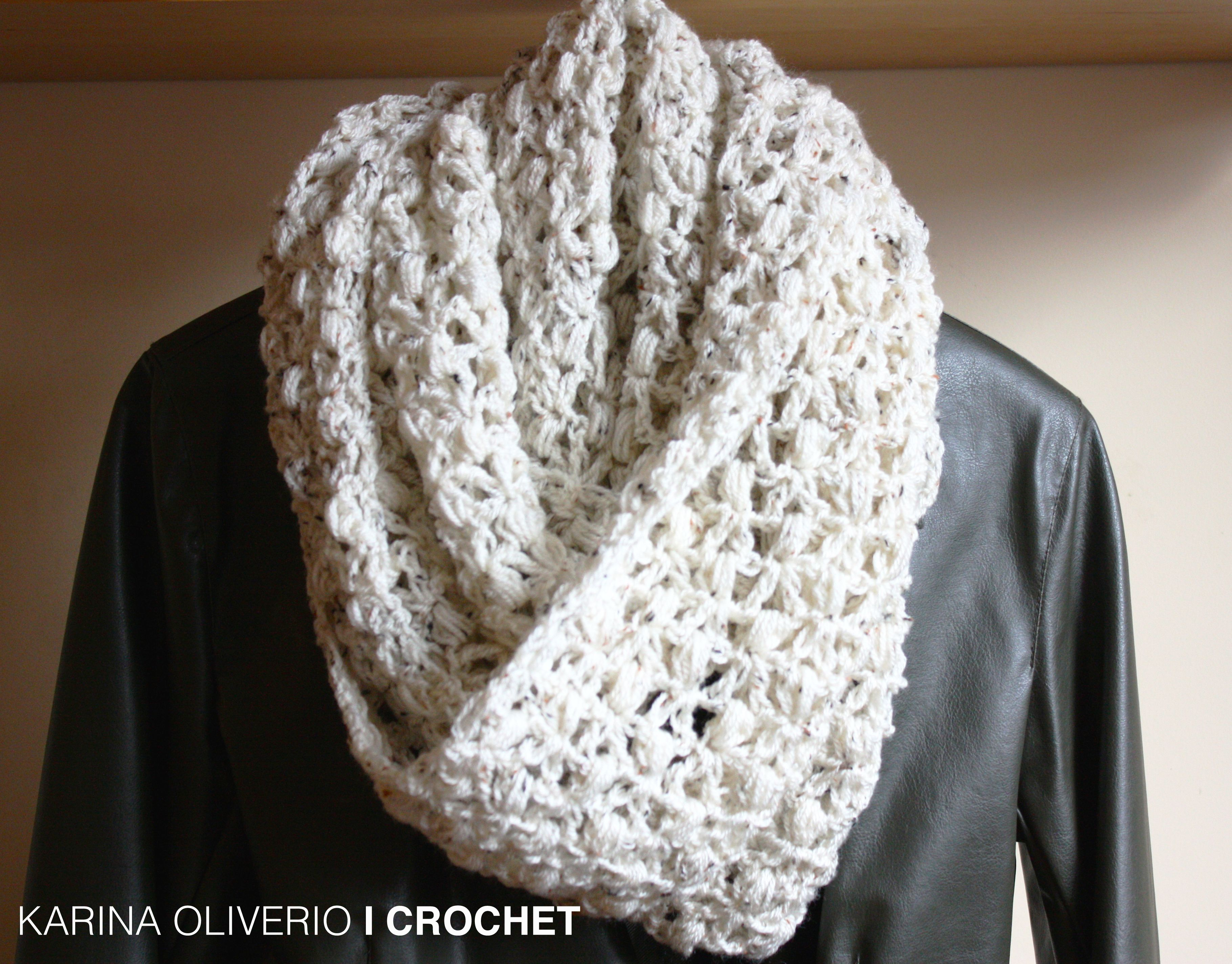 crochet infinitive scarf pattern, cowl, hand made | Bufanda infinita ...