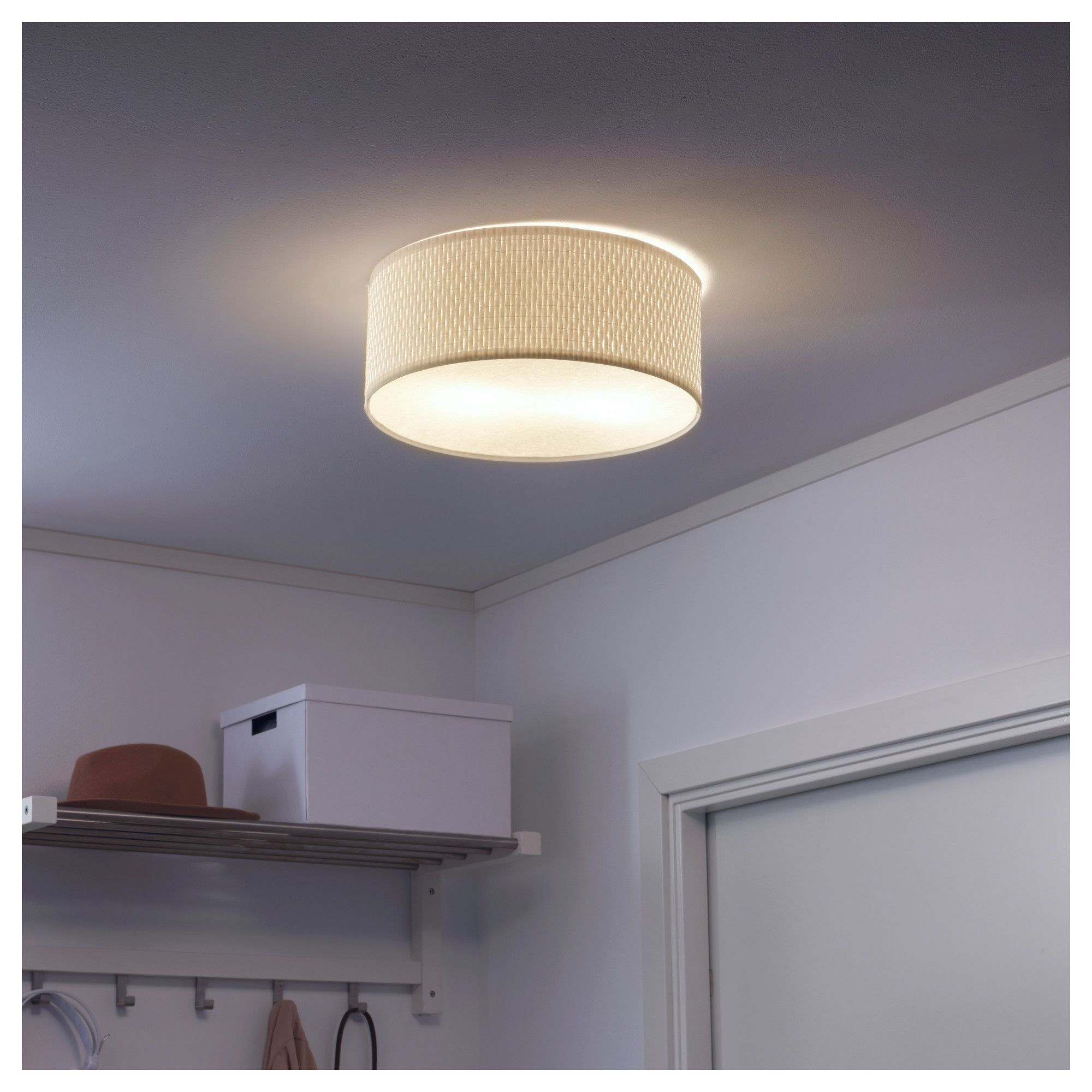 Ikea AlÄng Ceiling Lamp White