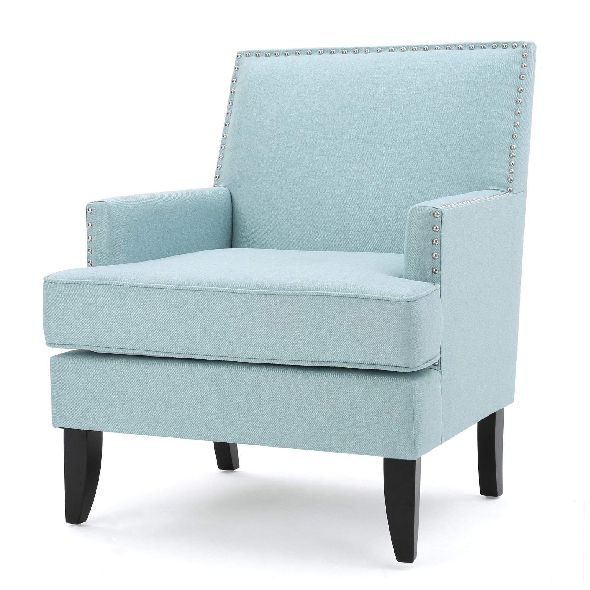 Tilla Club Chair Light Blue Christopher Knight Home Club