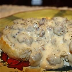 Sausage Biscuits And Gravy Recipe Evaporated Milk Recipes Biscuits And Gravy Biskets And Gravy