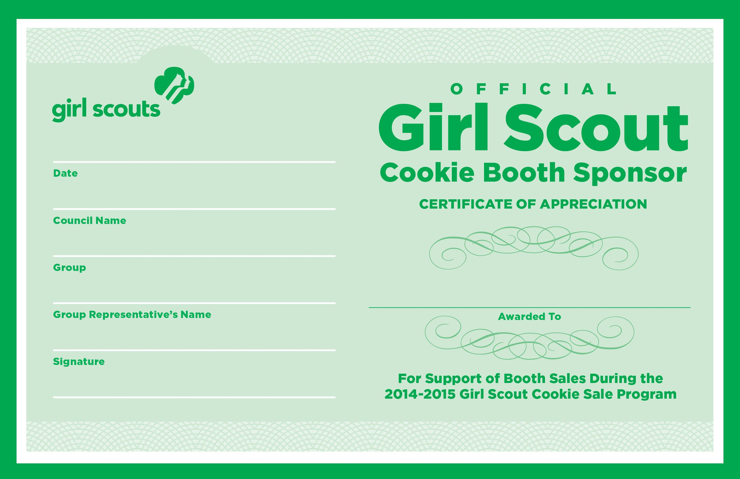 Volunteer certificates of appreciation for girl scout google volunteer certificates of appreciation for girl scout google search yadclub Image collections
