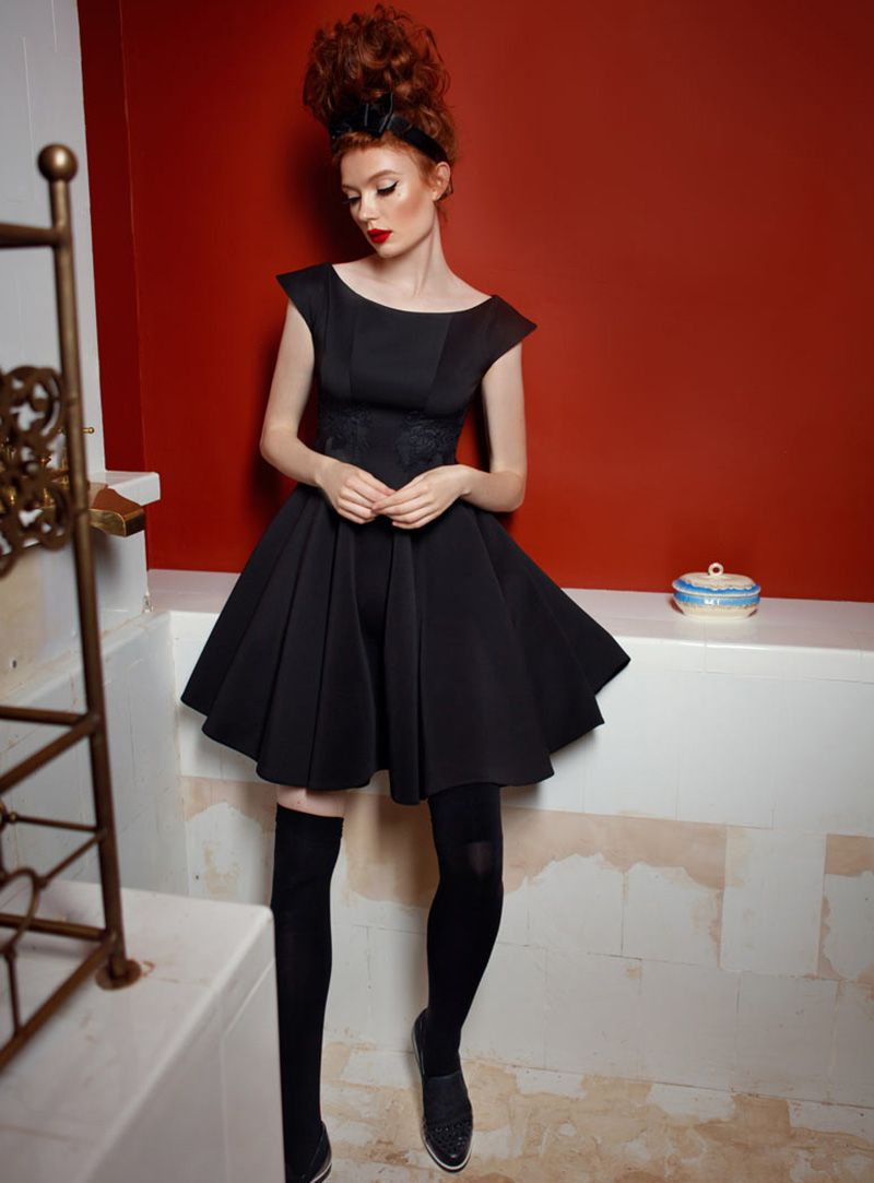 Черное короткое платье | Black short dress