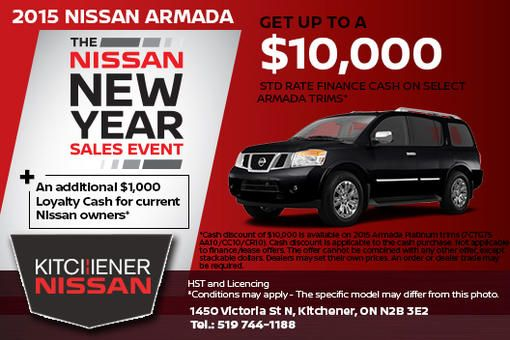 Save on the All-New 2015 Nissan Armada at Kitchener Nissan!