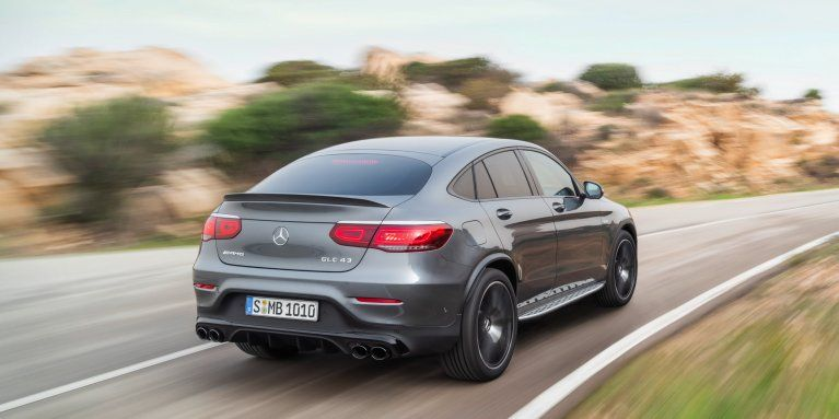 Rear View Of The 2019 Mercedes Amg Glc 43 4matic Coupe C 253 In
