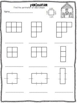 Gingerbread Fun Area And Perimeter With Images Area And