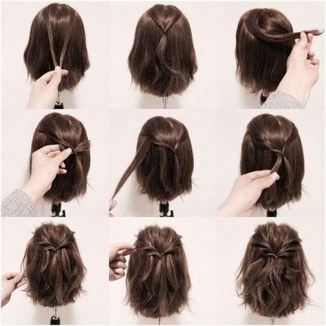 Bob saç modeli arkada nasıl bağlanır - Hairstyles #coiffurecheveuxmilong