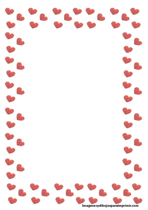 hojas con borde de corazon Hojas decoradas para escribir  un buen